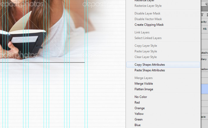 13 Webdesign tutorial, Photoshop CS6, Kopiowanie atrybutow ksztaltu