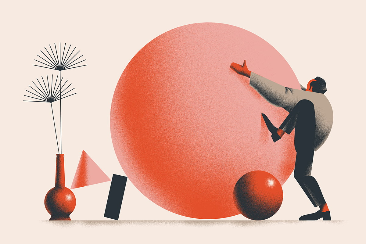 A set of illustrations for the online poetry magazine, Tomasz Woźniakowski