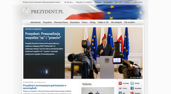 Strona Prezydenta za kadencji Bronisława Komorowskiego