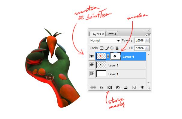 Tworzenie bajkowych grafik przy wykorzystaniu plasteliny Maskowanie obiektow