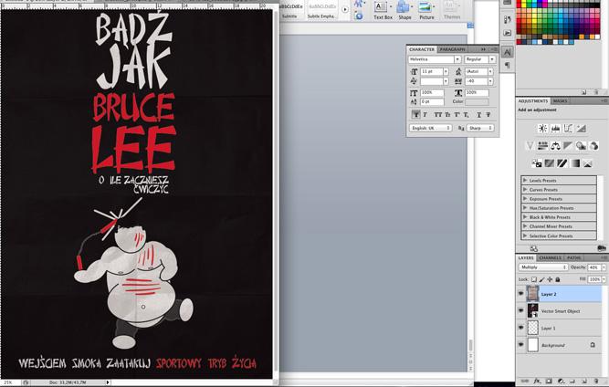 30 Plakat promujacy sztuki walki, wektor, illustrator