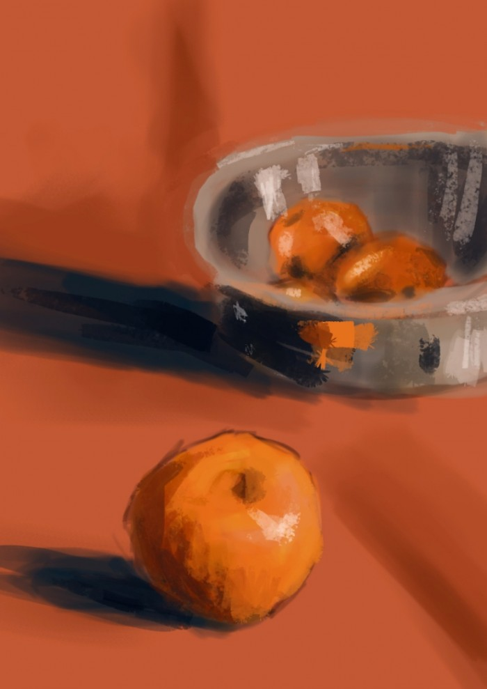 08 Martwa natura, czyli jak malowac pomarancze, speedpainting