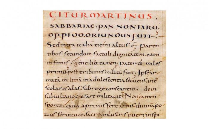 Bezpośredni przodek współczesnego pisma - minuskuła karolińska, Wikipedia