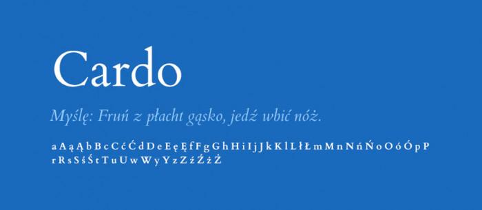 02 Cardo Darmowe fonty z polskimi znakami