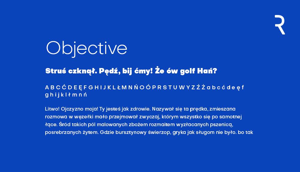 Objective darmowy font