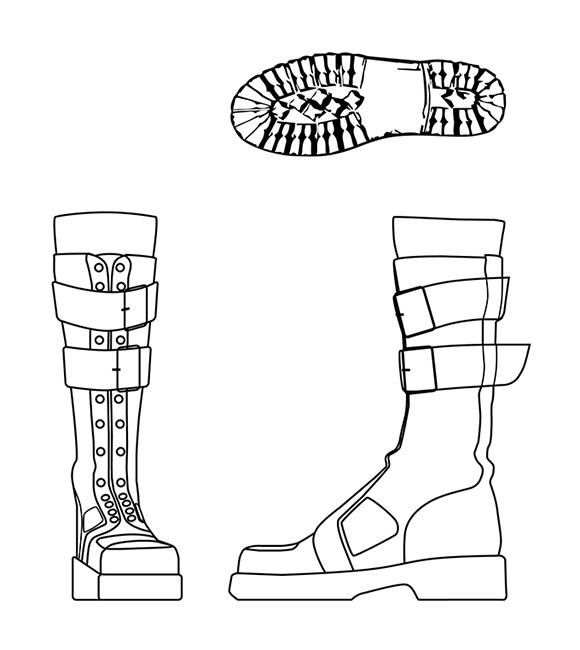 Rysunek 1 - Koncept butów