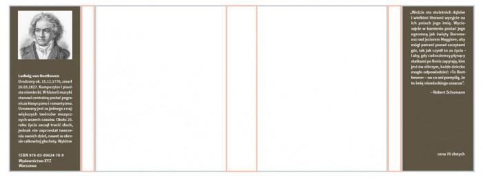 rys.6.Treść w kontrze na obu skrzydełkach obwoluty lub okładki,  zwiększono interlinię, stopień i grubość pisma