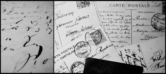 anonimowi mistrzowie - kartka z zeszytu i kartki pocztowe, XIX i XX wiek