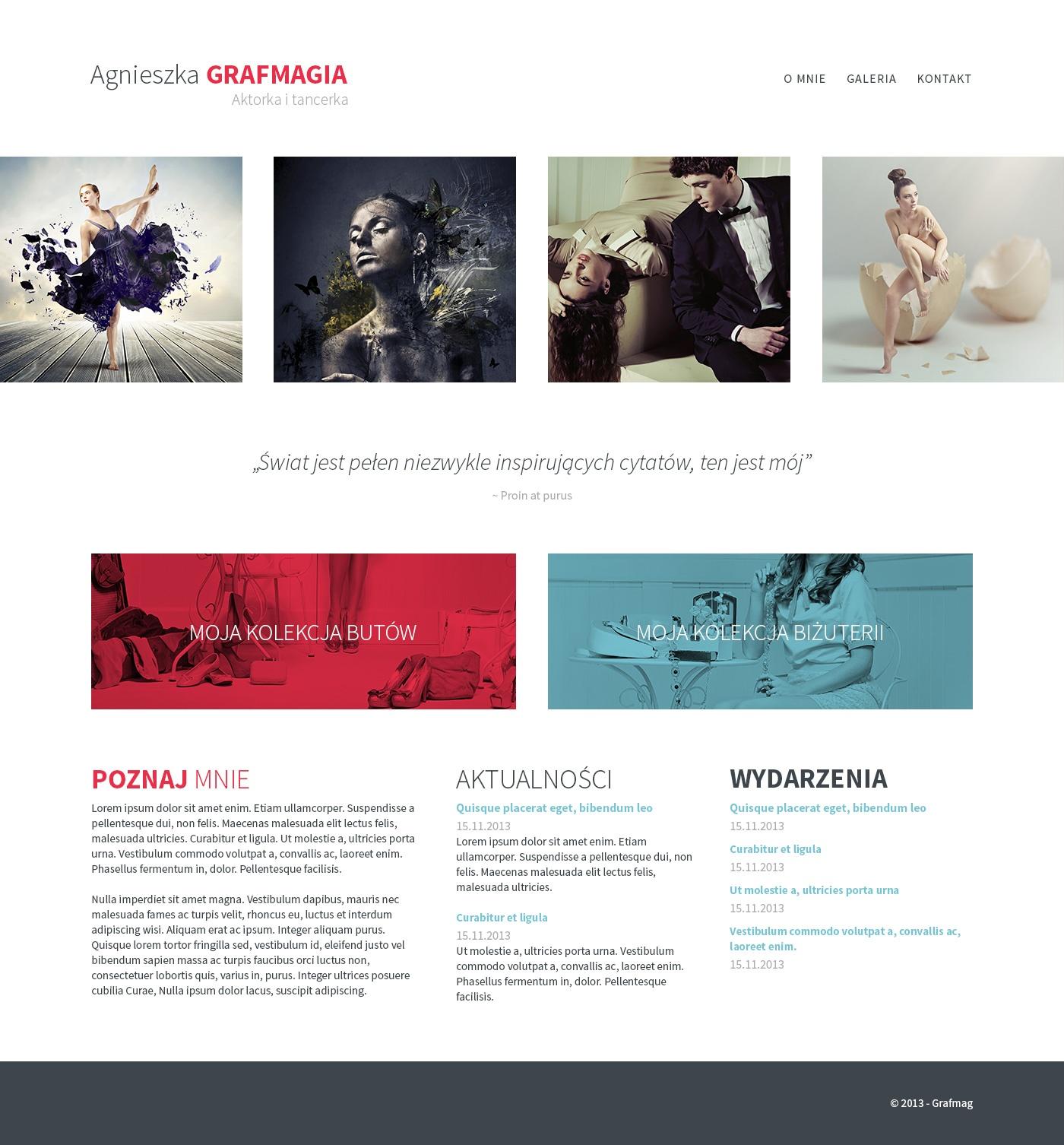Responsywna strona internetowa z Adobe Photoshop i Edge Reflow efekt koncowy