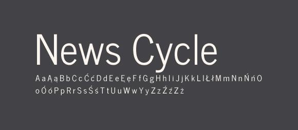 03 Darmowe fonty z polskimi znakami News Cycle