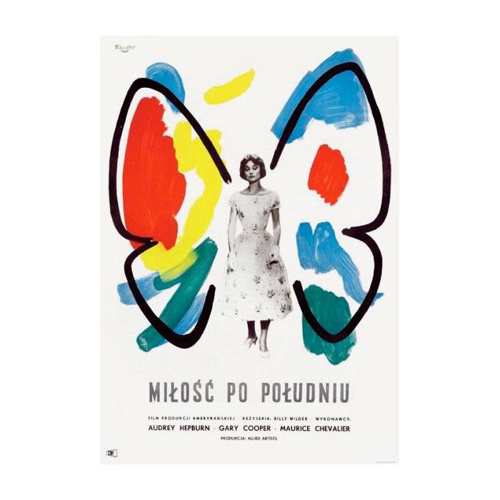 Plakat 8: Wojciech Fangor, Plakat do filmu Miłość po południu, 1959
