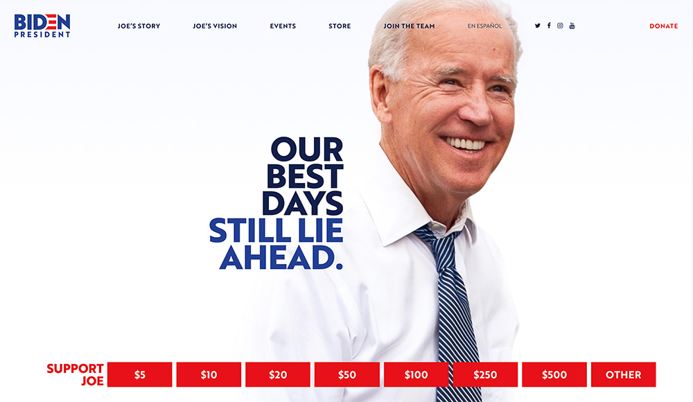 Strona internetowa kandydata