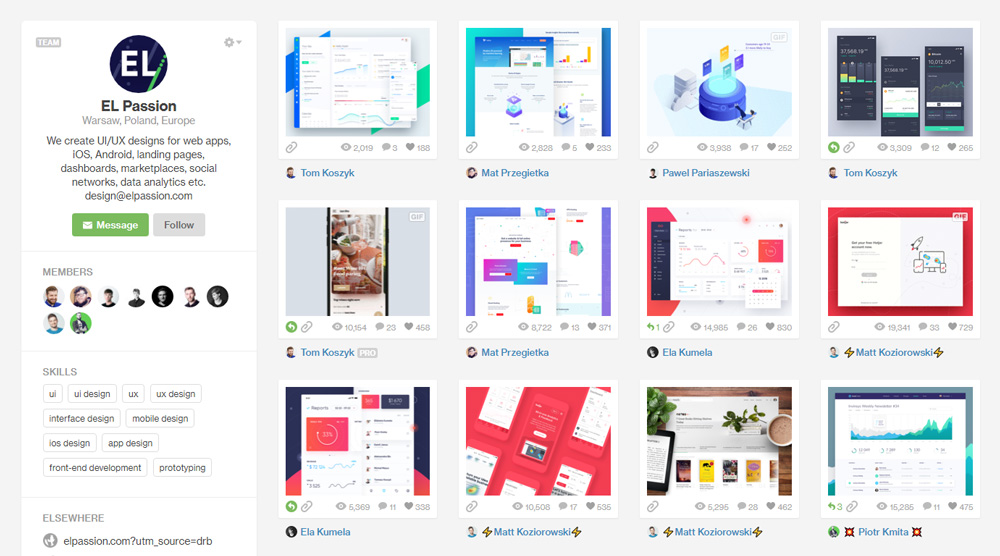 Profil Elpassion na Dribbble