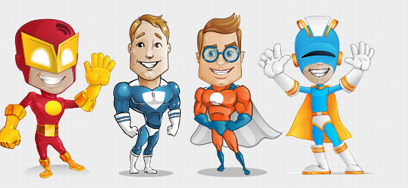 Superhero-Vector-Character-Set-1