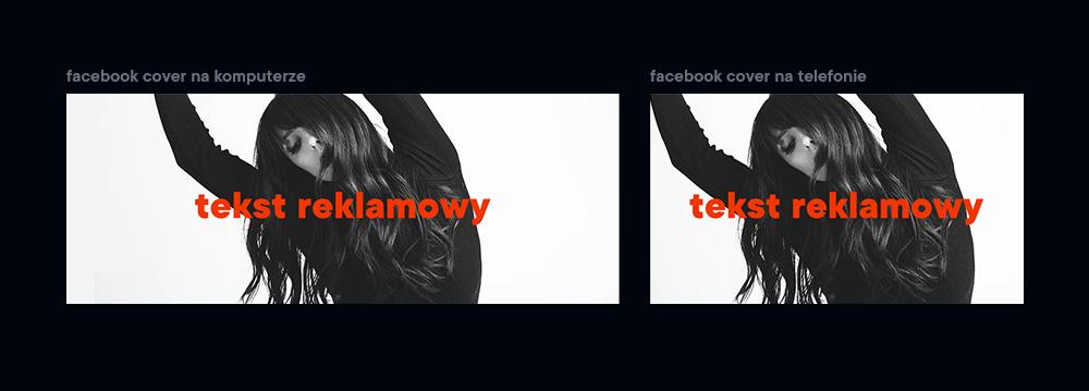 Facebook cover photo Projektowanie pod rozdzielczość komputerową