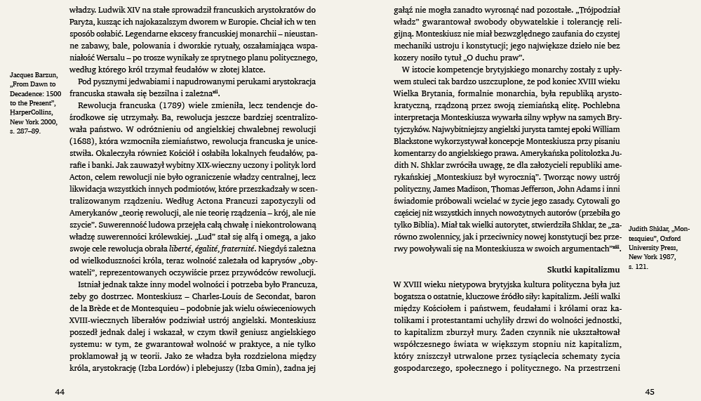 Umieszczenie przypisów bocznych (marginaliów) w układzie klasycznym