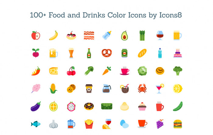 freebie-colored-food-drink-icon-set