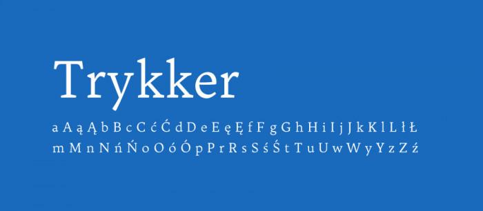 18 Trykker Darmowe fonty z polskimi znakami