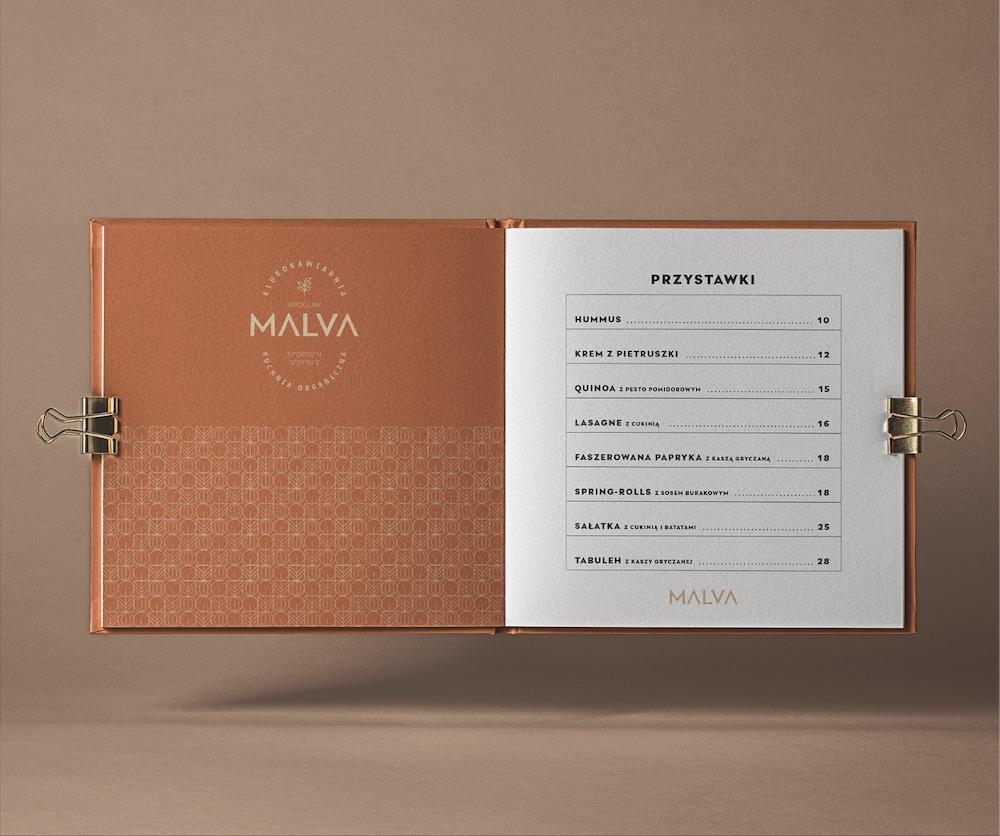 MALVA - club café visual identity,Łukasz Radoliński