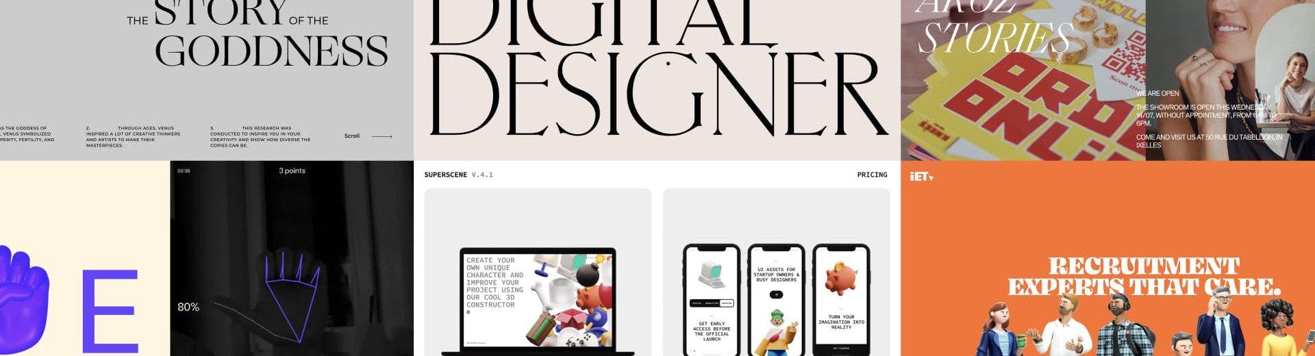 Okładka artykułu Trójwymiarowe ilustracje, eleganckie szeryfy i naturalność — Trendy w projektowaniu stron internetowych
