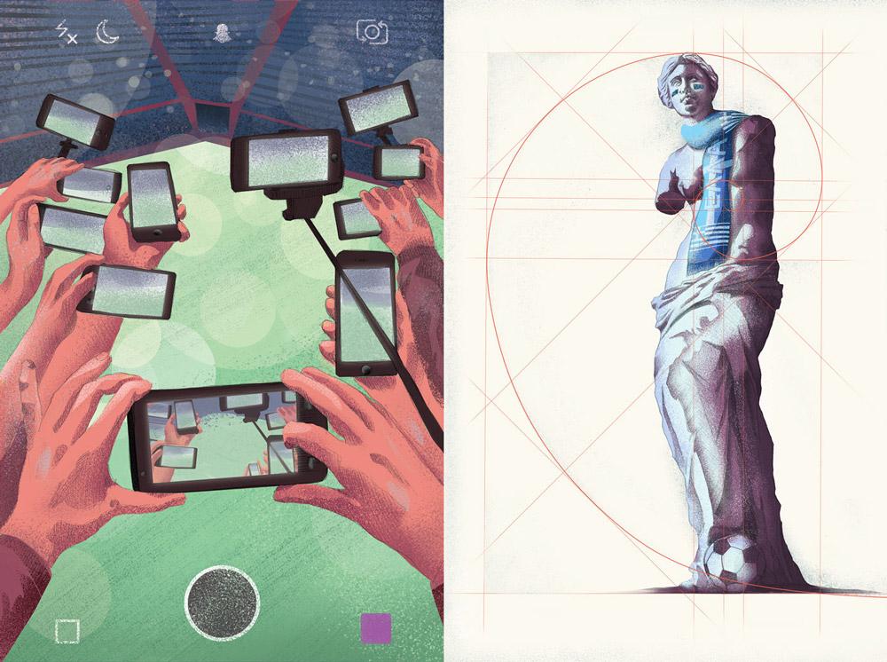 Kopalnia - editorial illustrations 2017, Jakub Cichecki