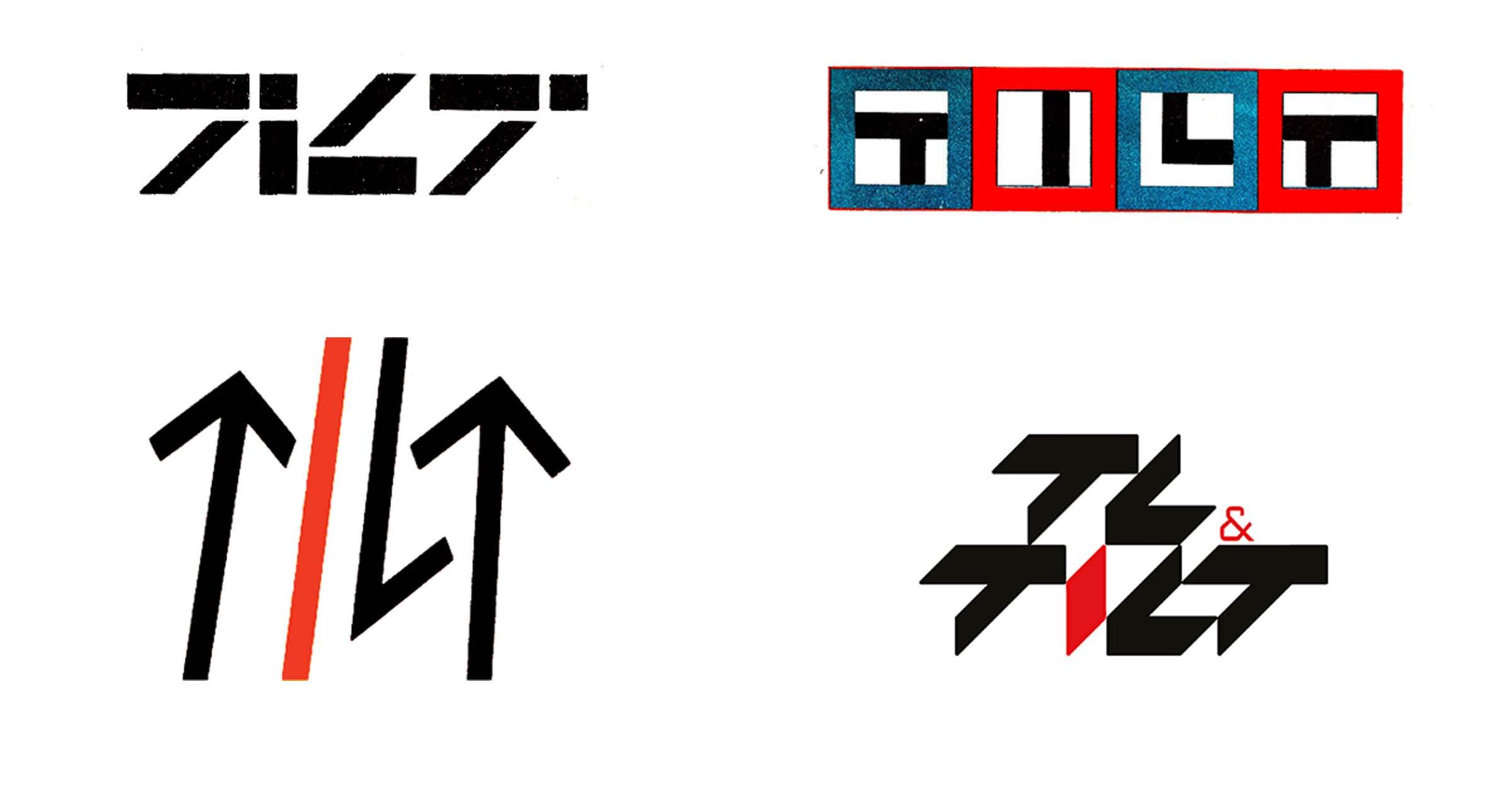 Różne warianty logotypu Tilt