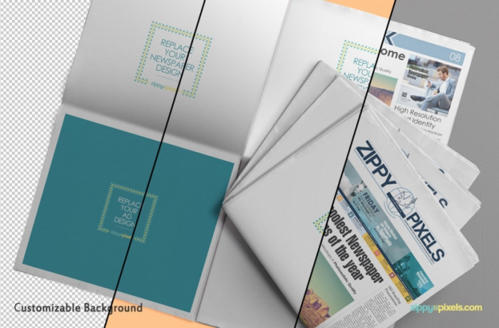 Free-Customizable-Newspaper-&-Advertising-Mockup