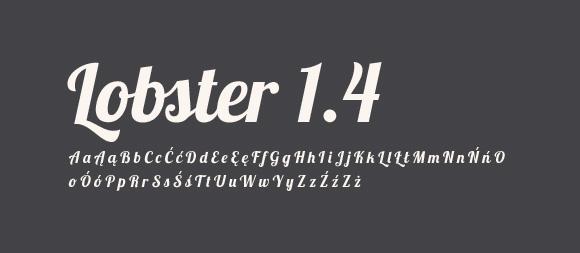 05 Darmowe fonty z polskimi znakami Lobster