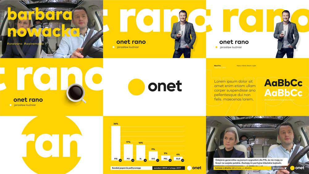 Nowe logo Onetu z 2017 roku autorstwa BNA