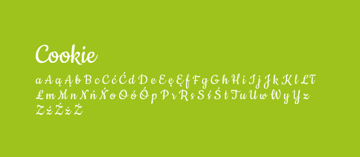 09 Cookie Darmowe fonty z polskimi znakami