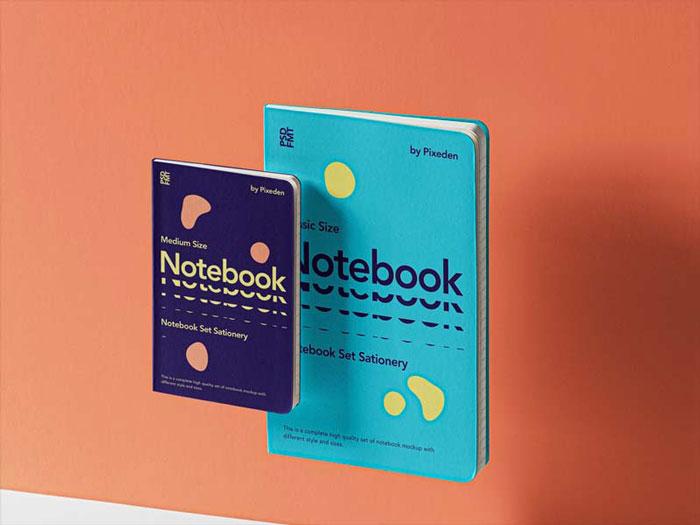 Gravity Notebook Set – Free PSD Mockup