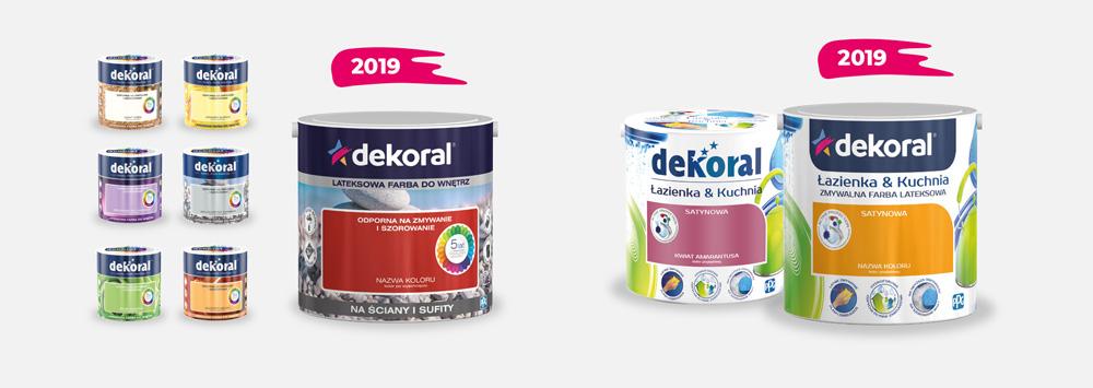 Nowe opakowania farb Dekoral