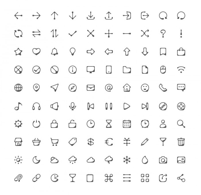100-Ink-Style-Icons