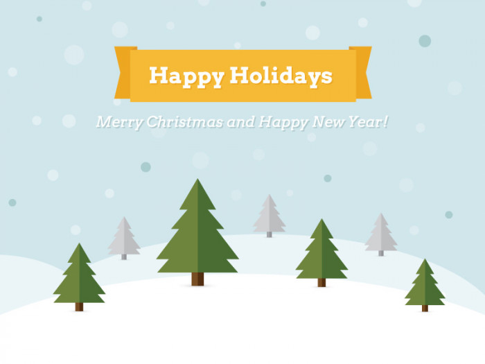 Happy-Holidays---Free-Vector-Illustration