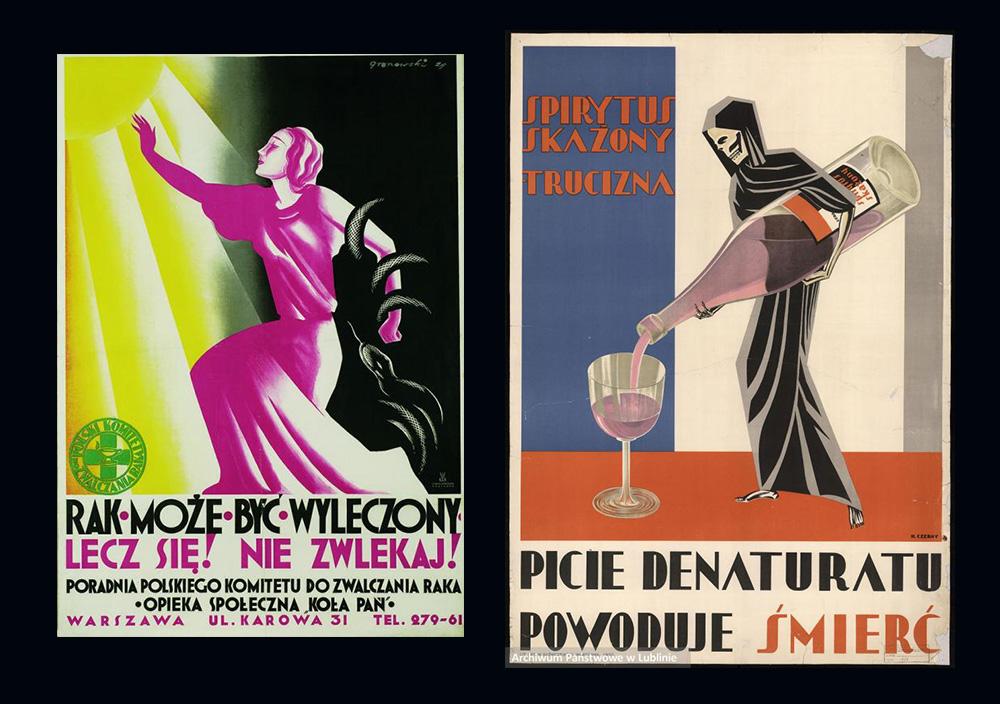 Tadeusz Gronowski, Rak może być wyleczony, lecz się! Nie zwlekaj! - 1929,Henryk Nowina-Czerny, Spirytus skażony. Trucizna. Picie denaturatu powoduje śmierć - 1930