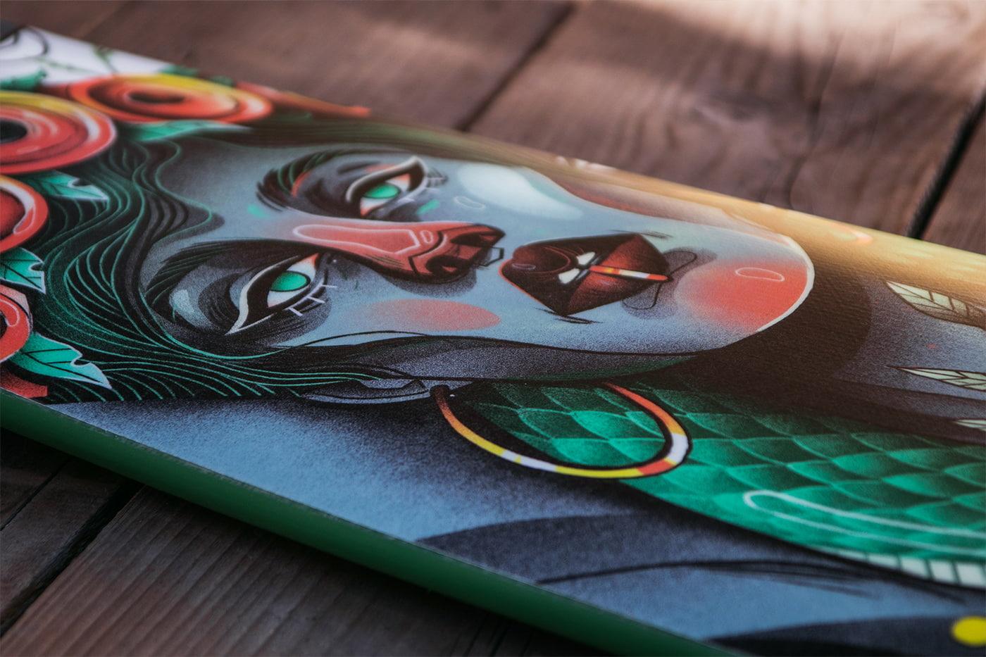 LUCA Longboards | illustation, Iza Dudzik