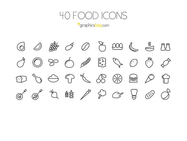 40-Food-Icons
