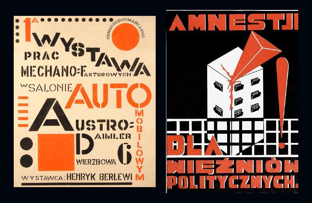 Henryk Berlewi, Wystawa prac Mechano-Fakturowych - 1922-24,Mieczysław Szczuka, Amnestji dla więźniów politycznych - 1926