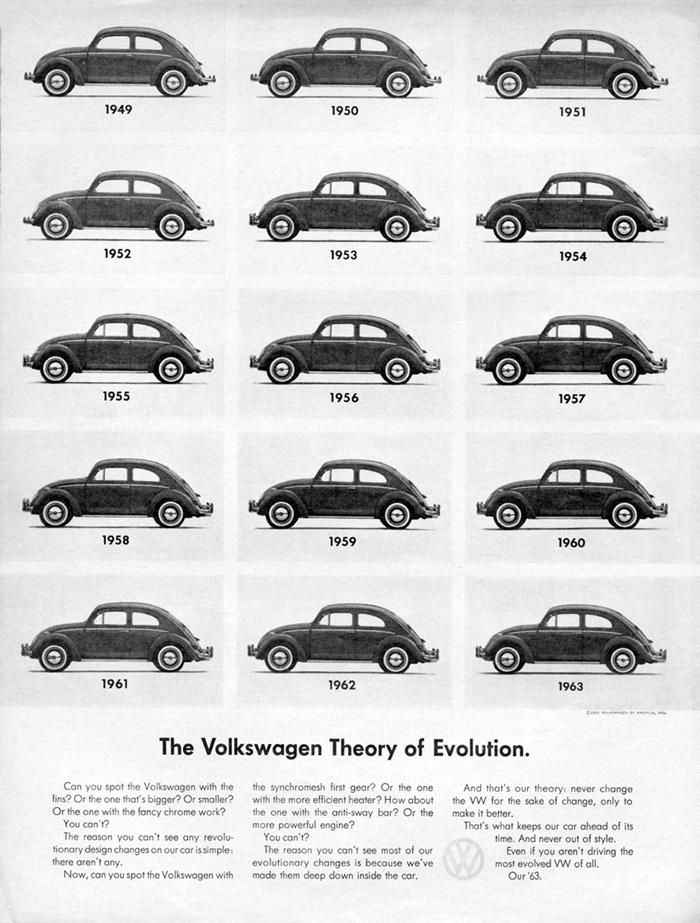 VW Garbus znany był z tego, że przez długie lata projekt nadwozia nie ulegał zmianom ani modernizacjom. Producent ulepszał to, co było najważniejsze, czyli części znajdujące się w środku, odpowiedzialne za wydajność, szybkość, bezpieczeństwo i niezawodność.
