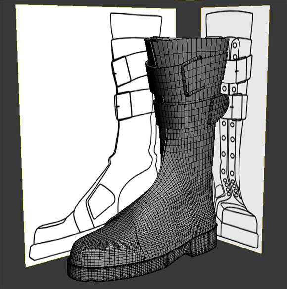 Rysunek 3 - Model przygotowanego buta