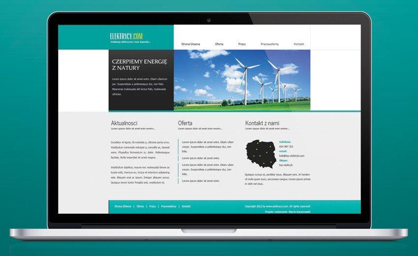 Okładka artykułu Projekt layoutu strony firmowej — Projektowanie strony w Photoshopie