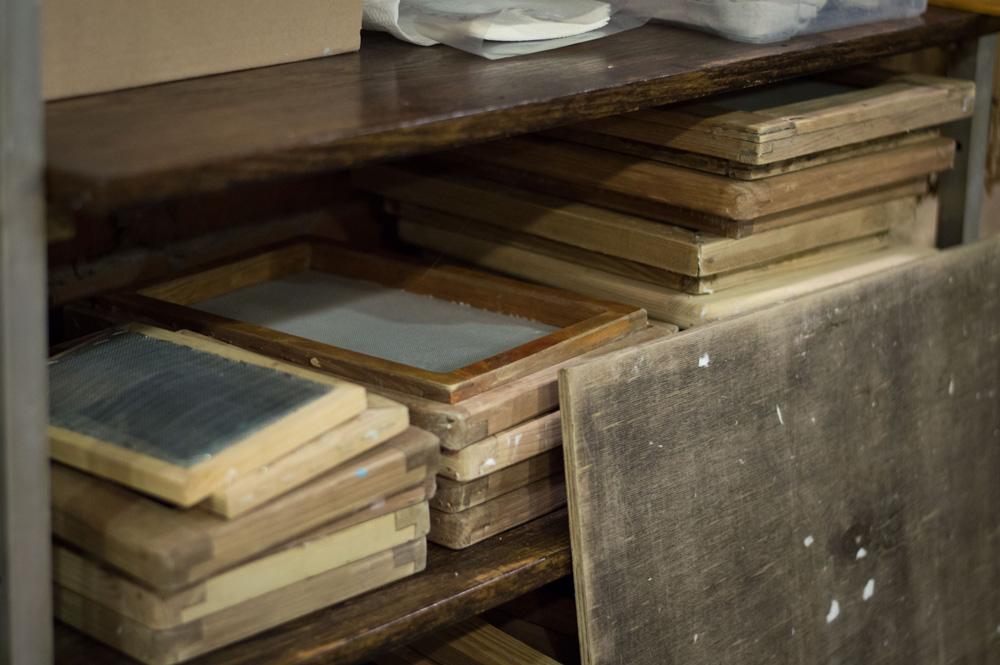 Sita do czerpania papieru w wersji warsztatowej, fot. Monika Suchodolska