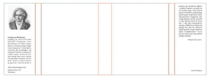 rys.5.Typografia na skrzydełku przednim i tylnym obwoluty lub okładki