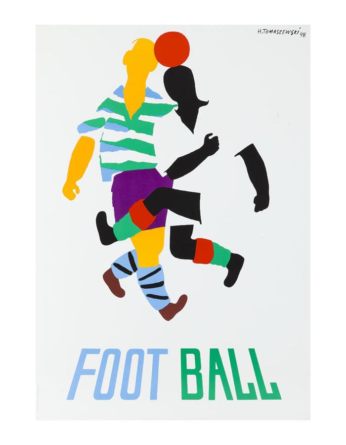 Plakat 2. Henryk Tomaszewski, Football, 1948 (1988 druk)