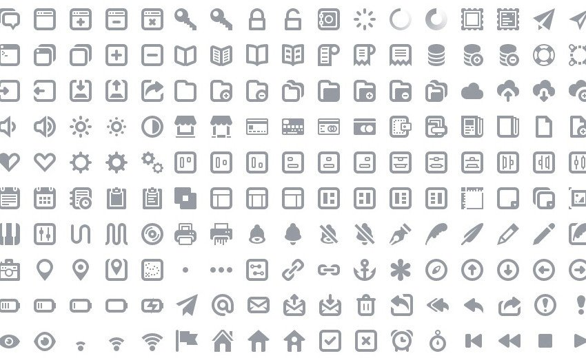 Okładka artykułu Darmowe, minimalistyczne ikony — Dostępne w postaci fontów