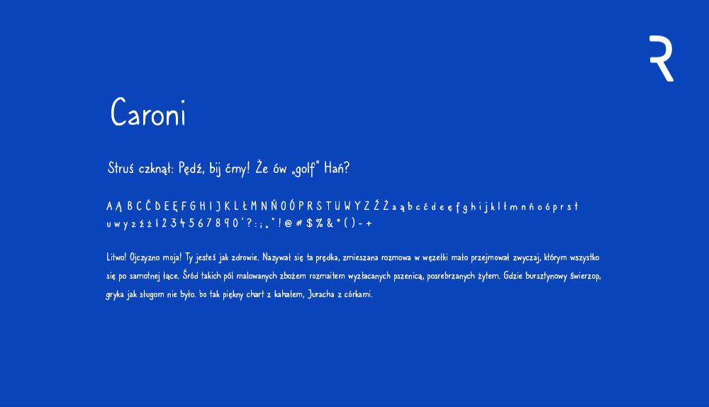 Darmowa czcionka - Caroni