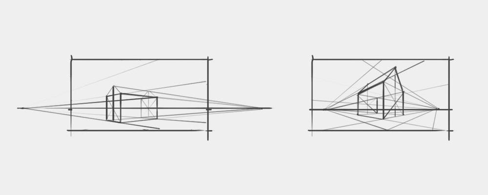 Perspektywa dwuzbiegowa - Podstawy rysunku