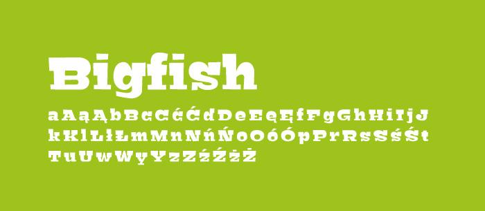 12 Bigfish Darmowe fonty z polskimi znakami