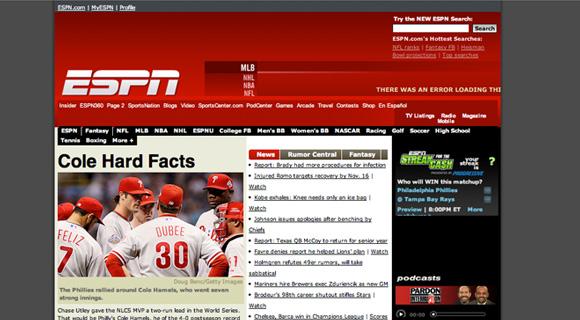 espn.go.com w 2008 roku