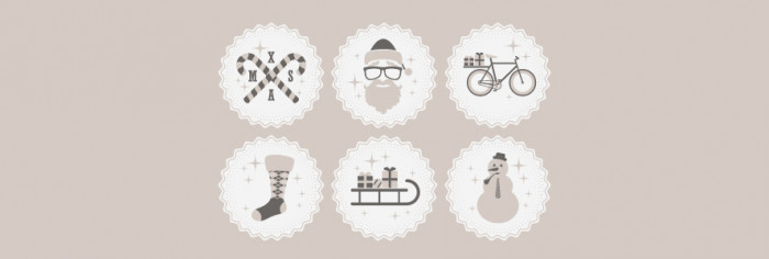 Hipster-Christmas-Icons